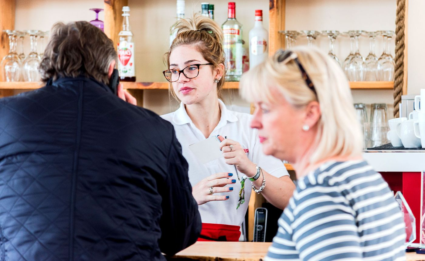 Blyth Boathouse staff and customers