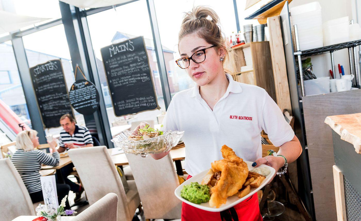 Blyth Boathouse waitress