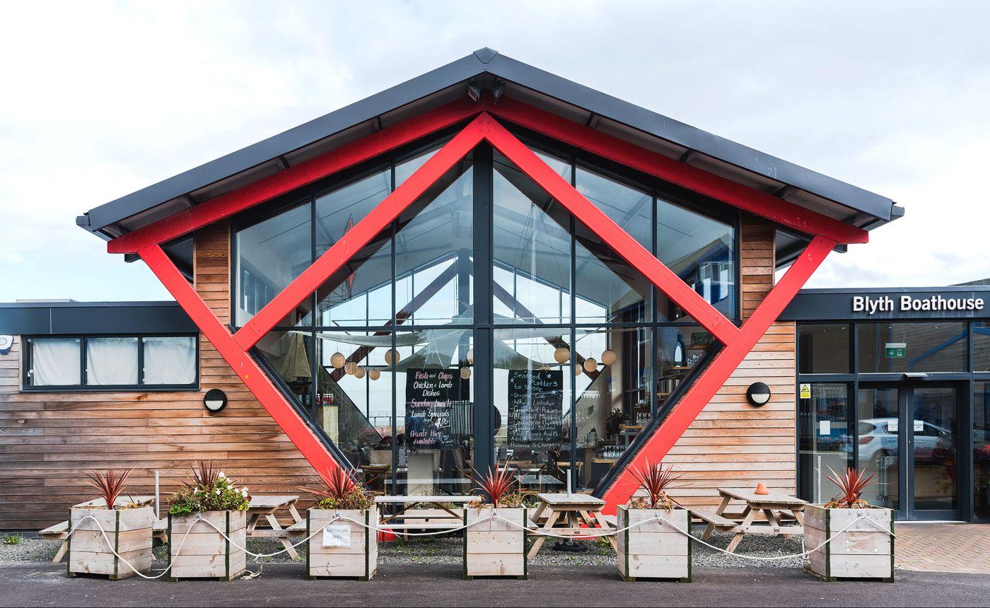 Blyth Boathouse restaurant exterior