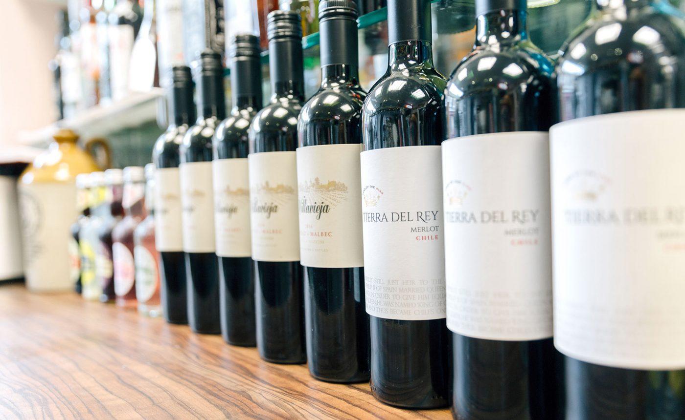 La Famiglia wine selection