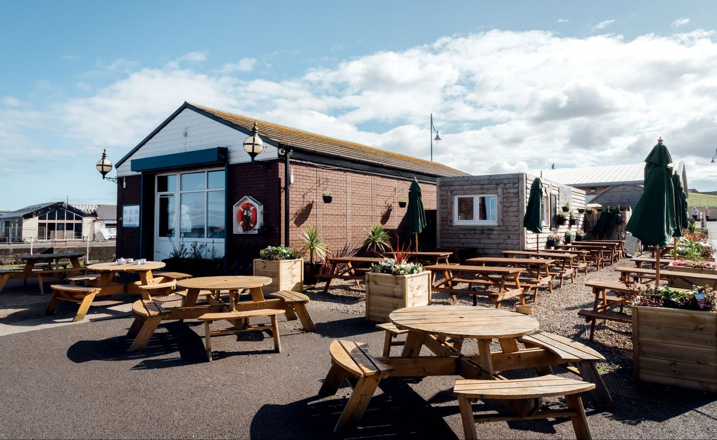 The Old Boat House Amble restaurant exterior
